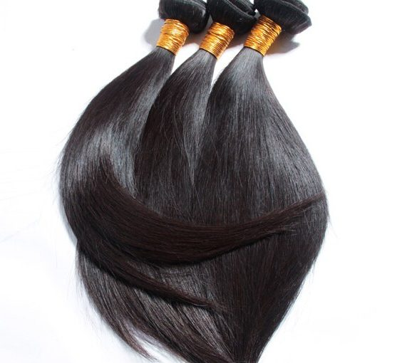 Long relaxed african american hair