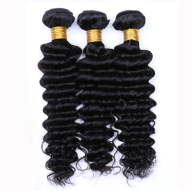 Barbie's Hair Extension's Natural Brown Bundle - Deep Wave